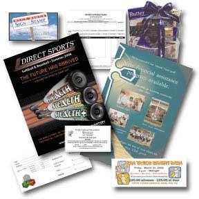 Postcards, Brochures, Letterhead, Business Cards, Envelopes, Tickets